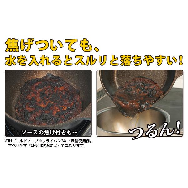 燒焦污漬、醬料的焦垢,加入水後滑順好清洗