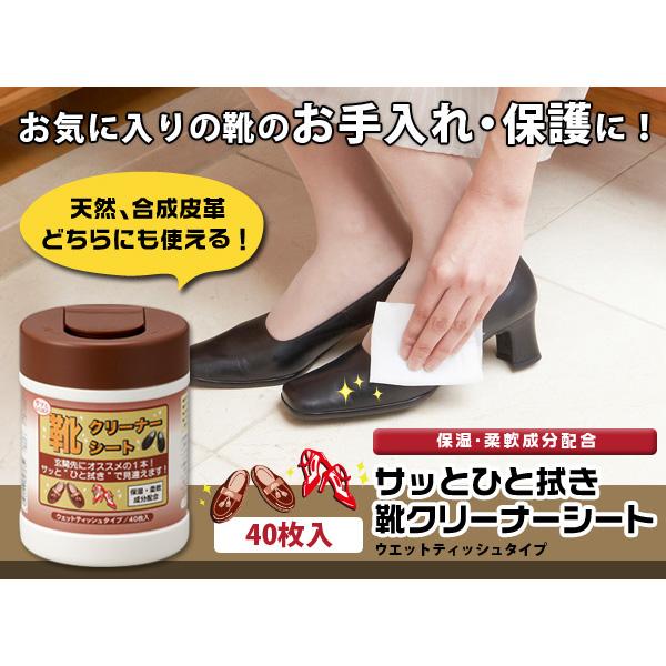 サッとひと拭き靴クリーナーシート